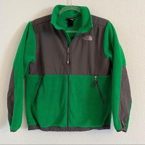 The north face boys green fleece zip up jacket